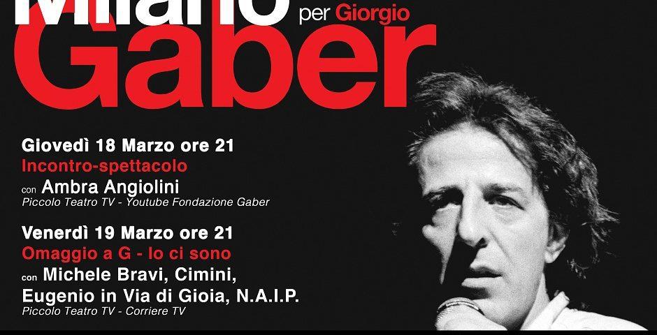 Milano per Gaber